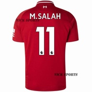 2019 LiverpoolFC New Season Salah No. 11 Top Quality Liverpool Home Football Jersey for the 2018/2019