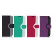 SONY Xperia Z1 亞麻紋側掀皮套 左右側掀翻蓋設計 可作摺疊立架式使用