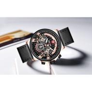 KADEMAN Multifunctional Men's Watch Three Eyes Six Pins Sports Anti-Belt Quartz Watch 689G