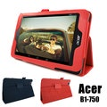 ◆免運費加贈電容觸控筆◆宏碁 Acer Iconia One 7 B1-750 專用高質感平板電腦磁釦式皮套 保護套 可斜立帶筆插