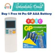 DAIKIN AIRCON REMOTE CONTROL FREE 10 PCS GP BATTERY