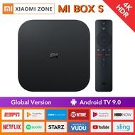 [Global Version] Xiaomi Mi TV Box S เวอร์ชั่นล่าสุด Smart 4K Ultra HD Streaming Media Player IPTV Wi-Fi Bluetooth 4.2 Quad-Core CPU Netflix M19E / A (สีดำ)