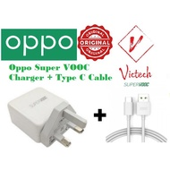 100% Original Oppo Super VOOC 65W Flash Charger Adapter with Type C Cable