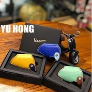 【YuHong Vespa】VESPA皮套 偉士牌鑰匙套 原廠經典LOGO雙色鑰匙套