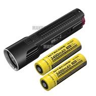 NITECORE EC4S + 2 x 3400mAh充電池 2150 流明 4 核LED 戶外露營 手電筒