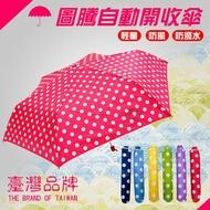 【勁媽媽高級傘具】日本三隻小熊2334 繽紛圓點派對鋼筆傘 超小體積~ 方便攜帶  防潑水pg布  雨傘/雨衣