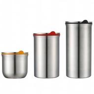 【索樂生活】JVR韓國原裝不銹鋼保鮮罐1300ml(304不鏽鋼食品級矽膠密封罐保鮮盒收納儲物)