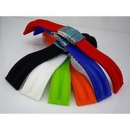 高質感silicone strap替代亞米家omega seiko原廠貨潛水雙股紋矽膠錶帶20mm
