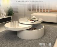 白色創意烤漆圓形大茶幾矮桌 現代簡約小戶型茶桌多功能傢俱