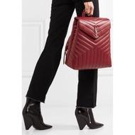 Saint Laurent 466517 backpack V型紋後背包 紅