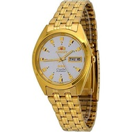 Orient #FAB00001W Men's 3 Star Standard Gold Tone Silver Dial Automatic Watch