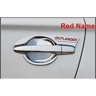 適用Mitsubishi 三菱 2014-2018款 OUTLANDER 歐藍德 汽車 門碗裝飾框 拉手裝飾貼 把手框