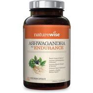 NatureWise Ashwagandha Endurance, Adaptogen Adrenal Support Supplement Organic KSM-66 Ashwagandha