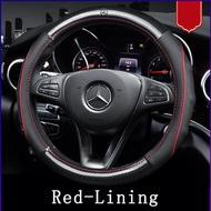 Mercedes-Benz car steering wheel cover C200L GLA E300L GLC260 C180 E200L carbon fiber leather Car interior accessories