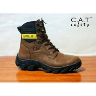 Caterpillar boots safety shoes pajero brown