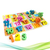 Puzzle Figures 1-20 Wooden - Wooden Jigsaw Puzzles - Wooden Kids Toys - Toy
