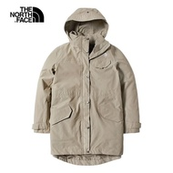 【The North Face】The North Face北面女款杏色防水透氣衝鋒衣|497CZBV