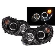 卡嗶車燈 Benz 賓士 CLK系列 W209/C209/A209 03-09 雙光圈魚眼 大燈 黑
