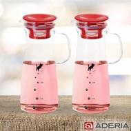 【ADERIA】日本進口貓咪耐熱玻璃把手冷水壺900ML2入組(2色)