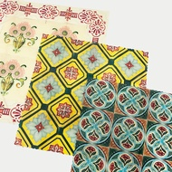 Peranakan Tiles Beeswax Reusable Food Wrap