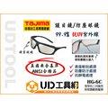 @UD工具網@田島 TAJIMA HG-6C 護目鏡 防護眼鏡 防塵眼鏡 抗UV 輕巧 USA安全基準 ANSU合格品