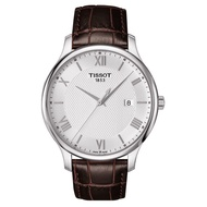 TISSOT Tradition 羅馬數字素面 銀框白鏡面  男錶 【Watch-UN】