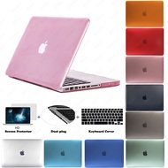 """15 Pro with CD-Rom Drive [2008-2012] Case, Crystal Cover Keyboard skin Screen Protector Dust plug for 15"""" Apple Macbook 15.4 inch Pro A1286"""
