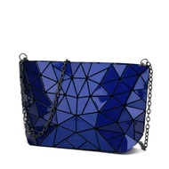 Glossy Sapphire Blue Mixed Triangles Issey Miyake BAOBAO Sling Bag / Clutch