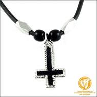 【野點子 Wild Idea】倒十字架造型項鍊 -逆十字架.長度可選!!