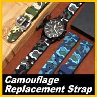 Camouflage Silicone Strap 18mm Quick Release Watch Band compatible for 70mai Saphir Watch Men and Women Sport Watch