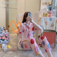 ✉☁NEW pajama Sleepwar Sleepwear terno pajama sleepwear pajama set for women's /cotton