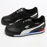 Ready Stock Original PUMA BMW MMS ROMA BASIC BMW Limited Joint Leather Leather Racing Shoes Casual Shoes Skate Shoes