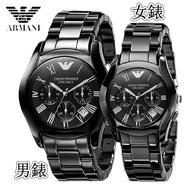經典陶瓷三眼情侶錶男款AR1400 女錶AR1401 ARMANI手錶 阿瑪尼手錶
