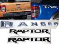 เซ็ท สติ๊กเกอร์ Raptor + สติ๊กเกอร์ Ranger ข้างกระบะท้าย ซ้าย ขวา และฝากระโปรงท้าย Ford Ranger 2012 2013 2014 2015 2016 2017 2018 2019 + V.3