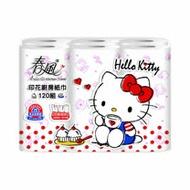 《春風》印花廚房紙巾-Hello Kitty午茶篇(120組*6粒*8串)/箱