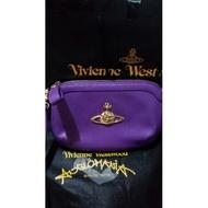 Vivienne  Westwood 日本專櫃 經典logo防刮皮斜背小包 零錢包 圍巾