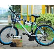 自行車 腳踏車改裝電動車套件 無刷電機200W 改電動腳踏車 電動自行車 助力器 人力腳踏車變電動車 代步車
