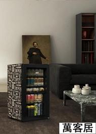【限時下殺!】哈士奇小冰箱單門式玻璃門小型辦公室家用冰吧客廳冰箱小冰箱 【】