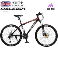 England Order (raleigh) Mountain Bike 24/27/30/33 Disc Brakes Shock Unisex Student Fitness Off-road Racing 27 Super High Carbon Steel Black Red Spoked Wheel 24-inch26-inchbuy One Get Ten