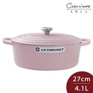 【無紙盒】Le Creuset 新款橢圓形琺瑯鑄鐵鍋 湯鍋 燉鍋 炒鍋 27cm 4.1L 雪紡粉 法國製