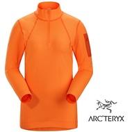 【ARCTERYX 始祖鳥 加拿大】Rho LT 長袖彈性保暖排汗衣 內層衣 機能保暖衣 運動上衣 女款 歡樂橘 (L07231900)