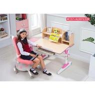【新品特惠】兒童書桌  可升降成長桌椅寫字畫畫桌椅組 人體工學椅 ME357+AU307(桌+椅+桌上書櫃)