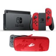 【台灣公司貨】 Nintendo Switch NS主機+主機包+貼  超級瑪利歐 奧德賽 紅色特別版 【台中星光電玩】