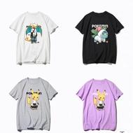 神奇寶貝皮卡丘聯名精靈寶可夢傑尼龜可達鴨超夢噴火龍短袖潮T恤衣服寶可夢寶貝球3D悠遊卡
