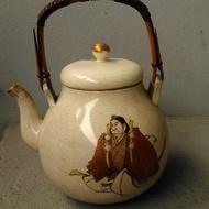 日本老件薩摩燒手繪大茶壺