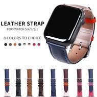 สายสำหรับ Apple Watch band Leather LOOP 42mm 38mm watchband Apple I Watch 44mm 40mm 5/4/3/2/1 อุปกรณ์เสริม