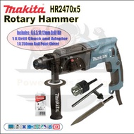 MAKITA HR2470X5 ROTARY HAMMER DRILL / HAMMER DRILL / COMES WITH FREE ACCESSORIES
