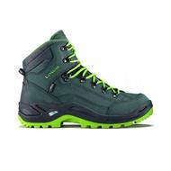 【LOWA】RENEGADE GT 防水透氣 中筒登山鞋 柏油灰/綠 男款 LW310945