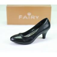สินค้ายอดนิยม รองเท้า☃✸ Ailyaoo รองเท้า 0971A1B รองเท้าคัชชูนักศึกษา ส้นสูง สีดำ 25  FAIRY