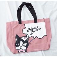Rebecca Bonbon日本狗頭包 帆布方形購物袋🍆粉紫色🍇